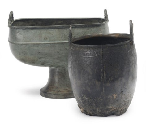 A CHINESE SMALL IRON CAULDRON