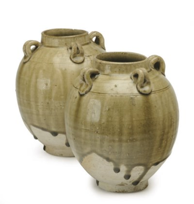A PAIR OF CHINESE CELADON- GLA