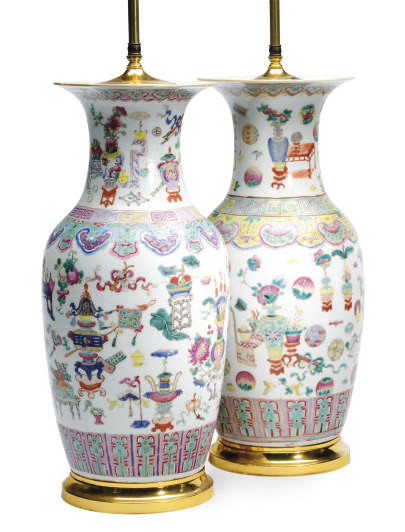 TWO CHINESE PORCELAIN FAMILLE