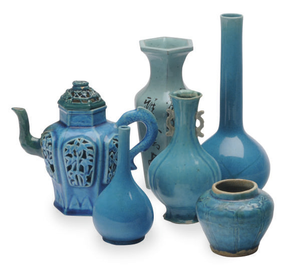 A GROUP OF CHINESE TURQUOISE-G