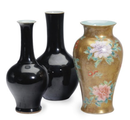TWO CHINESE PORCELAIN BLACKISH