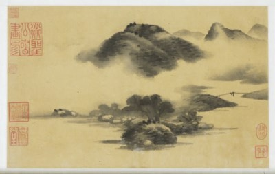 A CHINESE SCROLL PAINTING OF A