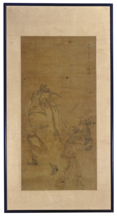 A CHINESE PAINTING ON SILK OF