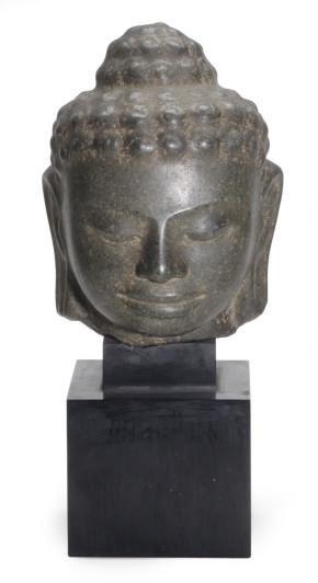 A MON-DVRAVATI STYLE HEAD OF B