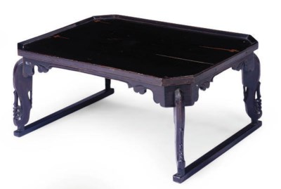 A KOREAN BLACK LACQUERED LOW T