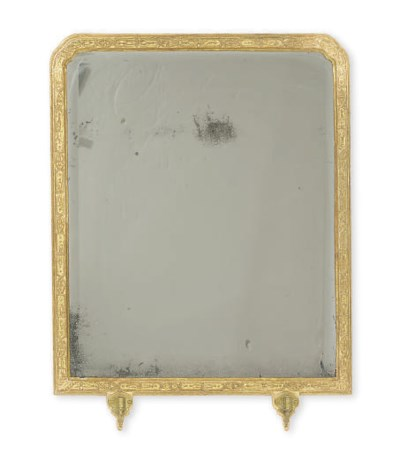 A GEORGE I GILT GESSO MIRROR,