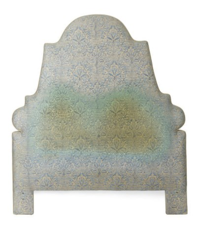 A FORTUNY UPHOLSTERED HEABOARD