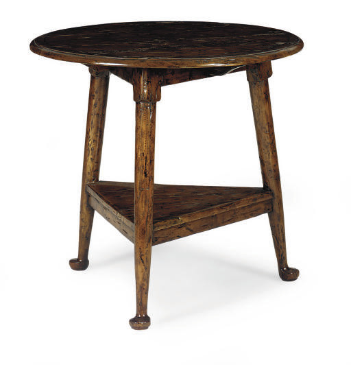 A FRUITWOOD SIDE TABLE,