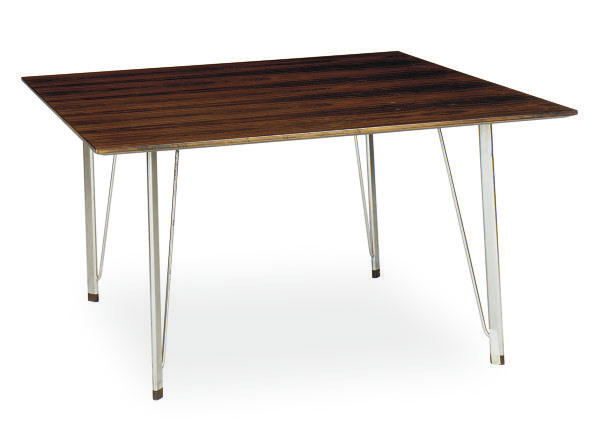 A DANISH ROSEWOOD AND CHROMED-