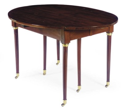 A FRENCH MAHOGANY EXTENDING DR