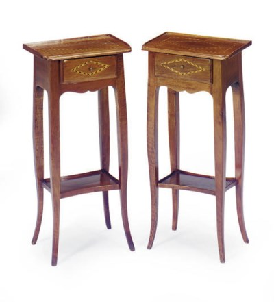 A PAIR OF CONTINENTAL INLAID F
