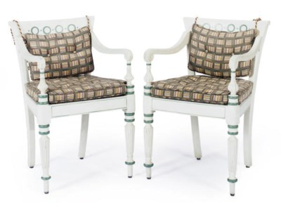 A PAIR OF FRENCH EMPIRE PAINTE
