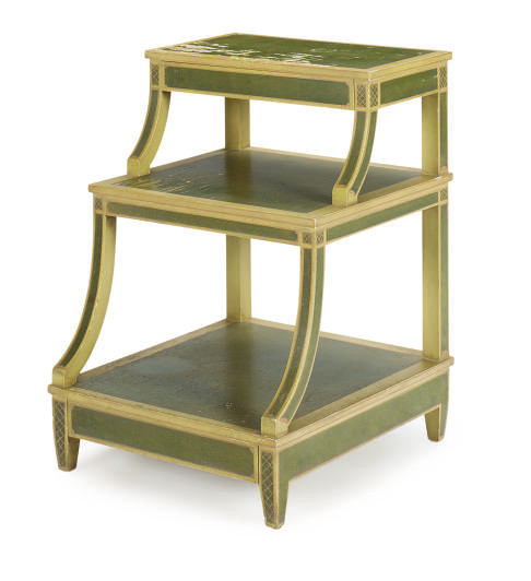 A PAINTED SIDE TABLE,