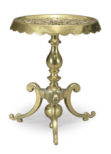 A BRASS PLANT STAND,
