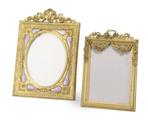 A GILT-BRONZE AND ENAMELED PIC