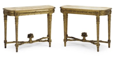 A PAIR OF FRENCH GILTWOOD AND