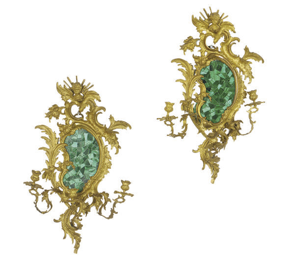 A PAIR OF GILT-BRONZE AND MALA