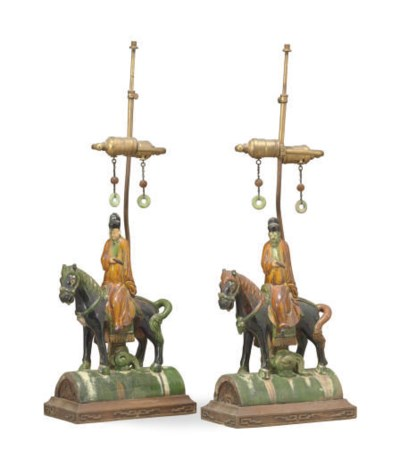 A PAIR OF CHINESE POLYCHROME-G