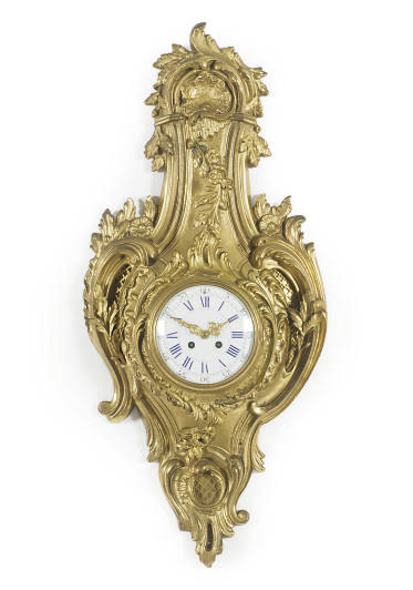 A FRENCH ORMOLU CARTEL CLOCK,