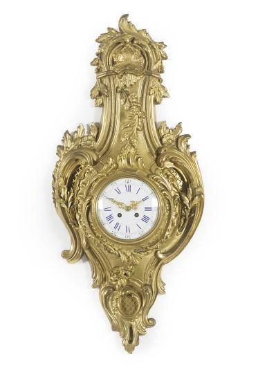 A FRENCH ORMOLU CARTEL CLOCK,