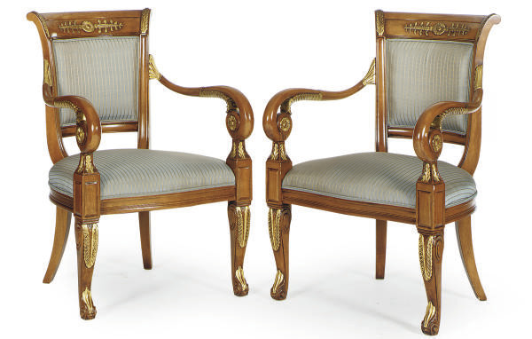 A SET OF SIX FRUITWOOD AND PAR