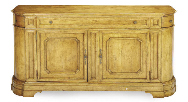A STAINED FRUITWOOD CONSOLE CA