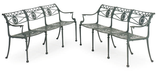 A SET OF FOUR CAST-ALUMINUM GA