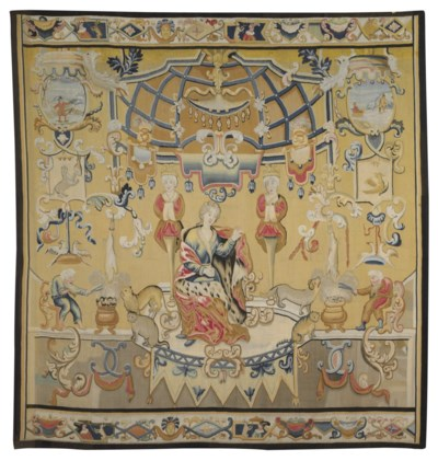 A GERMAN ALLEGORICAL TAPESTRY
