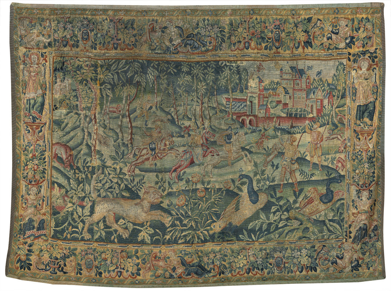 A FLEMISH GAME PARK TAPESTRY