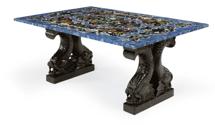 A PIETRA DURA AND MARBLE CENTE