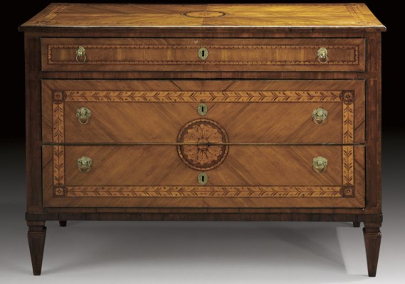 A NORTH ITALIAN INLAID-WALNUT