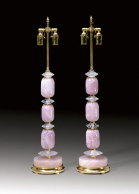 A PAIR OF ORMOLU-MOUNTED ROSE