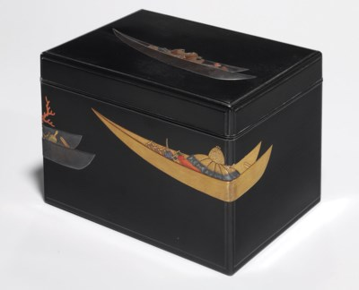 A Lacquered Wood Box for Loose