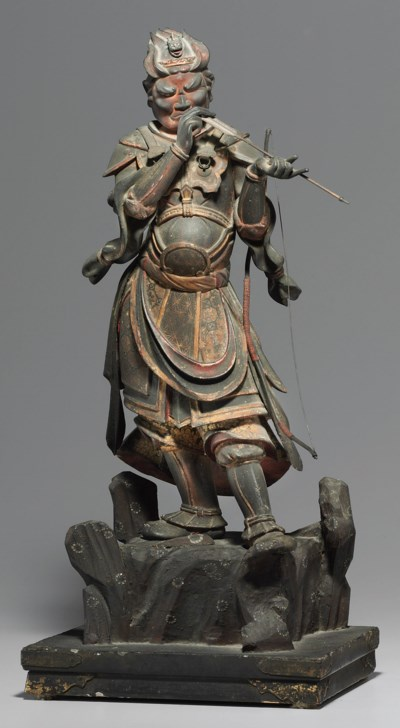 A Wood Figure of the Divine Ge