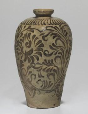An Iron-Decorated Celadon Stoneware Maebyong