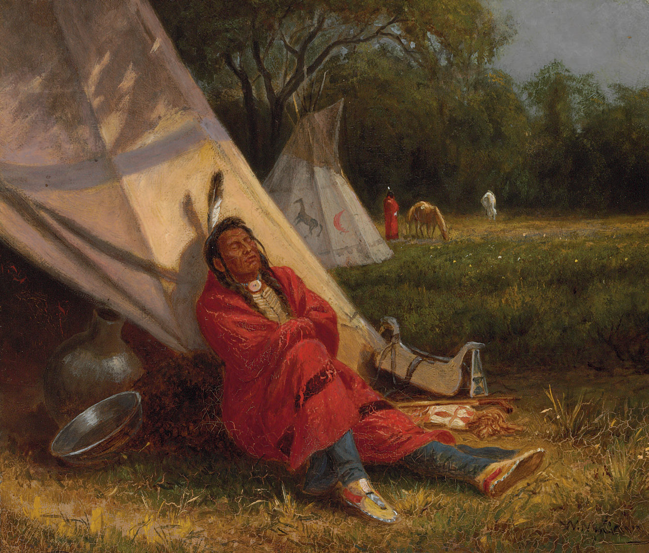 Resting Indian