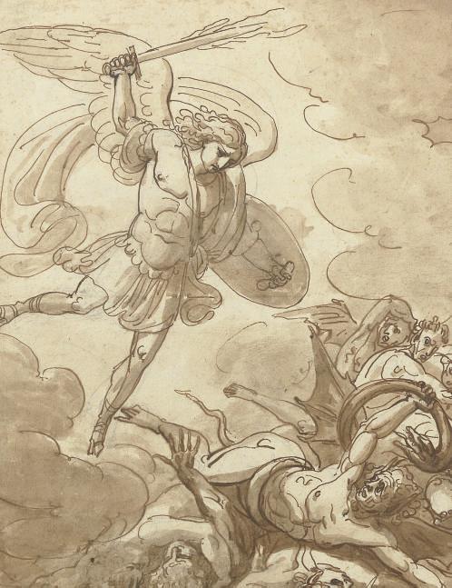 The Archangel Michael overturning Satan