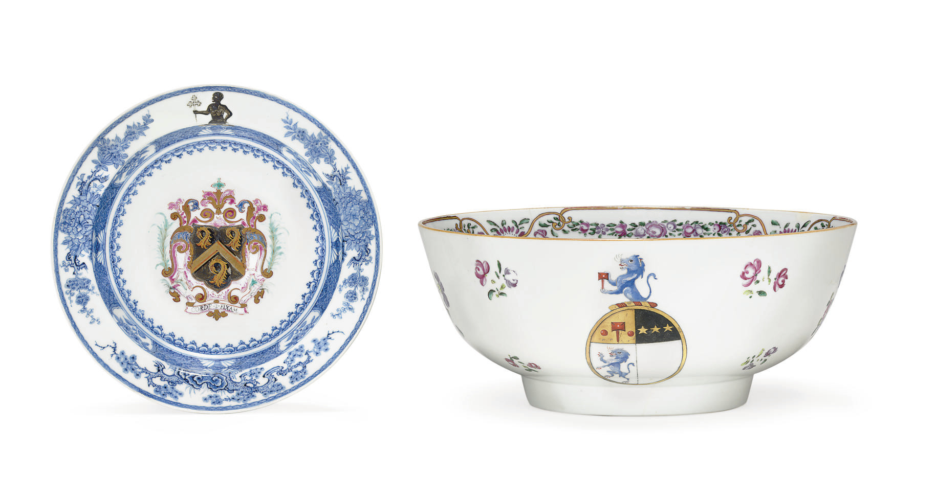 AN ARMORIAL SOUP PLATE AND PUN