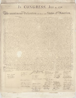 DECLARATION OF INDEPENDENCE].