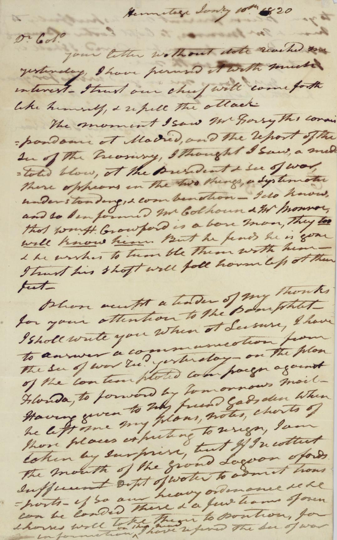 JACKSON, Andrew )1767-1845). A