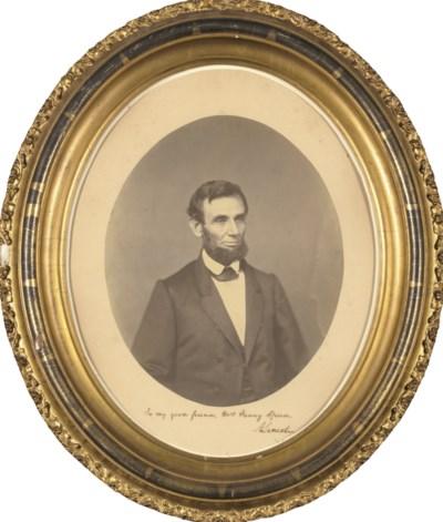 LINCOLN, Abraham. Oval portrai