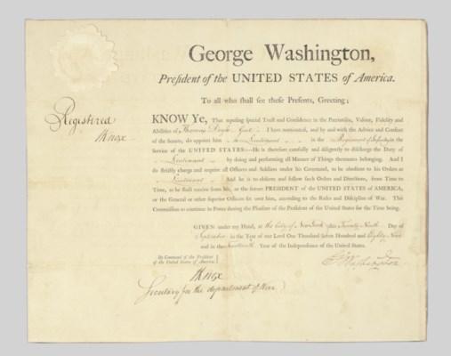 WASHINGTON, George. Partly pri