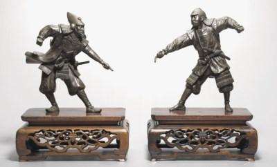 A Pair of Bronze Warriors