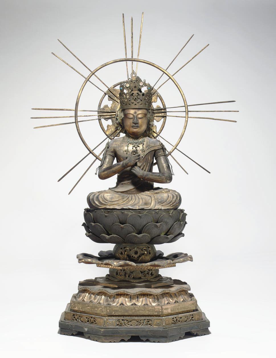 A wood sculpture of Dainichi N