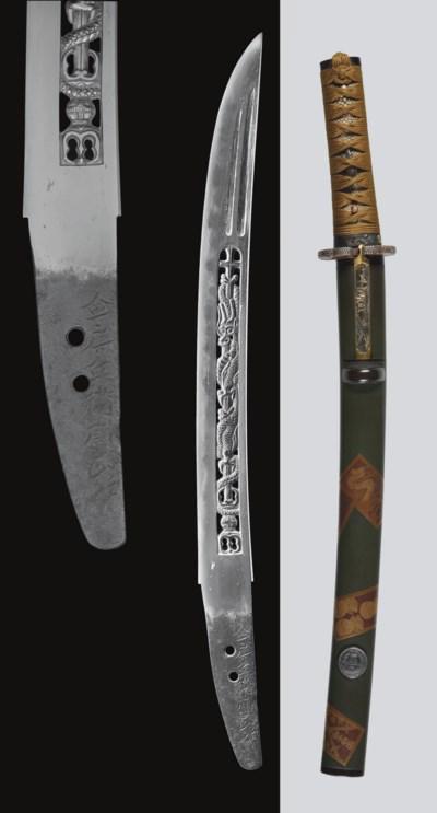 A Mounted Yamato Wakizashi