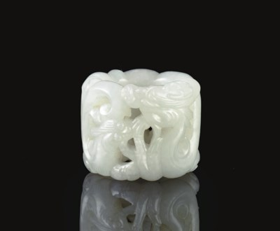A WELL-CARVED WHITE JADE OPENW