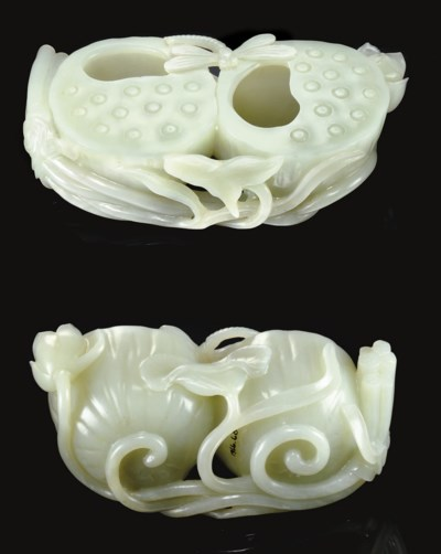 A LARGE WELL-CARVED WHITE JADE