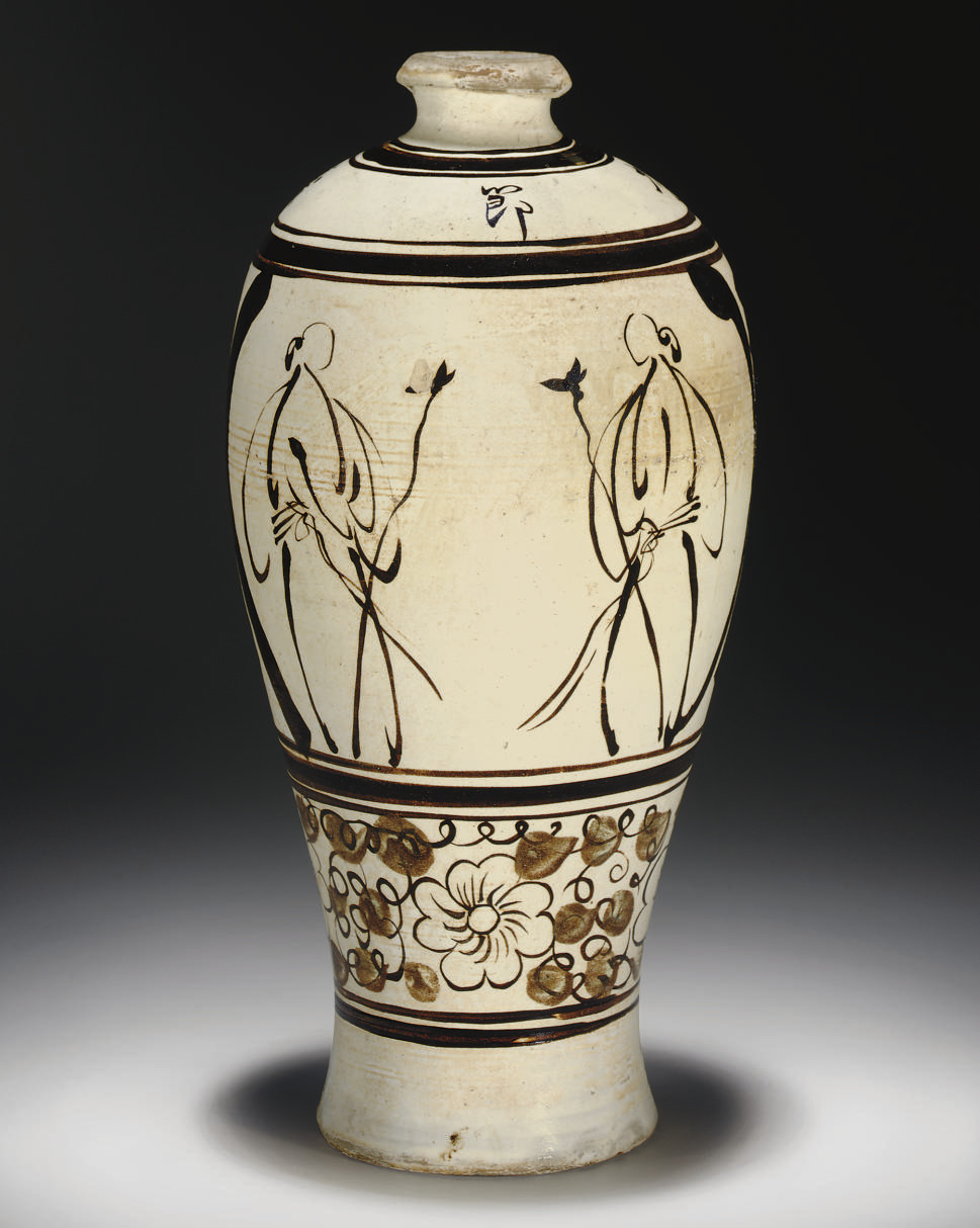 A CIZHOU PAINTED MEIPING