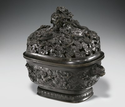 A RARE AND FINELY CAST BRONZE