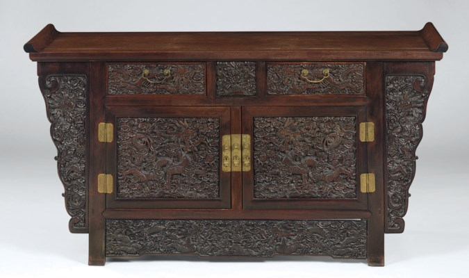 A TWO-DRAWER MING-STYLE HONGMU